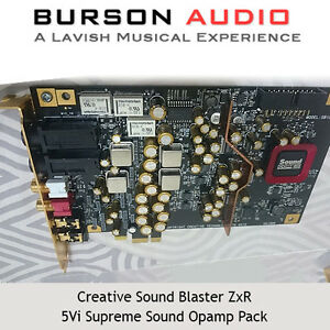 Creative Sound Blaster ZxR Soundcard upgrade pack with V5i Op-Amps