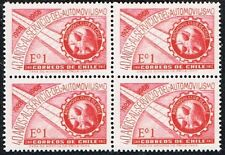 CHILE 1968 STAMP # 727 MNH BLOCK OF FOUR CHILEAN CAR CLUB