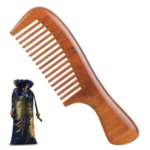 Premium Hair Comb Wooden Combs Natural Dalbergia Wood Handcrafted Sturdy Smooth