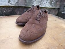 CHEANEY BROGUES – BROWN SUEDE – UK 8 – GROSVENOR – EXCELLENT CONDITION