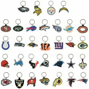 SOFT NFL Logo Key Chains all 32 Teams FREE SHIPPING Only 49 cents each!