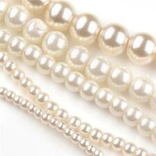 200 TOP QUALITY IVORY MIXED SIZE GLASS PEARL BEADS 3mm 4mm 6mm 8mm 10mm