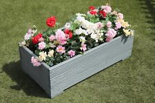 1 METRE LARGE WOODEN GARDEN PLANTER TROUGH EXTRA WIDE IN CUPRINOL WILD THYME