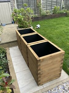 Commercial Raised Planters, Set of 3. Ideal for Trees, Plants, Bamboo etc.