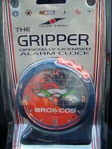 VTG! NOS *NFL DENVER BRONCOS* Suntime GRIPPER Officially Licensed Alarm Clock