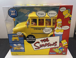 The Simpsons Talking Elementary School Bus Playmates 2002 NEW
