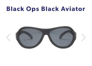 Babiators Aviator ages 3-5 Black ops Black Kids Sunglasses Shades UV Protection