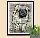 Pug Dog Dictionary Art Print Unique Pug Puppy Lover Gift