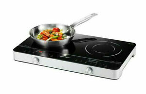 SILVERCREST Doppel-Induktionsplatte SDI 3500 schnelles  energiesparend. Kochen