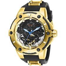 Invicta БОЛТ 26315 позолоченные мужские механические полиуретановый дракон мотив часы