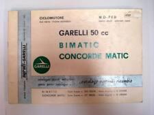GARELLI 50cc BIMATIC & CONCORDE MATIC - Moped Spares List, Jun 1977 Multilingual