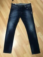 NWD Mens Diesel TEPPHAR PATCHED STRETCH Denim 084GF Dark Blue Slim W32 L32 H6