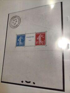 France: 1927, Strasbourg Exposition Souvenir Sheet  #241 MH (34519) France Stamp