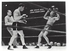 JOE LOUIS vs JOHN HENRY LEWIS 8X10 PHOTO BOXING PICTURE