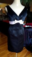 Gorgeous Arden B Classy Women Cocktail Dress S  black pink bow.  V neck