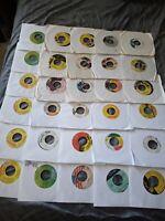 "Reggae Oldies / Dancehall - 7"" Vinyl Lot Of 30 Singles - Free Shipping  - #7"