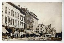1910 Battlecreek, Michigan, Main Street RPPC