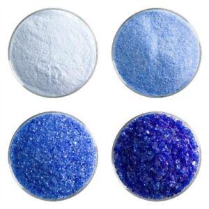 1/4 lb Bullseye COE 90 True Blue Transparent Glass Frit Choice Fusing Supplies