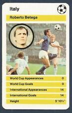 TOP TRUMPS-WORLD CUP 1978- #IT02-ITALY-ROBERTO BETEGA