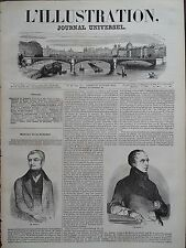 L' ILLUSTRATION 1844 N 48  PORTRAITS DE MM. ADOLPHE THIERS et FRANCOIS GUIZOT