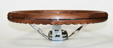 "AMX GRANT Wood Steering Wheel Walnut 13.5"" Real Walnut 13 1/2"" chrome spokes"