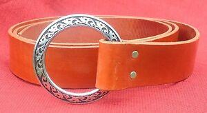 "1.5"" Wide Medieval Ring Belt Black or Brown SCA Faire Sword Pirate Rennie"