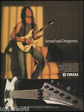Yamaha RGX Series 603s Electric guitar 8 x 11 advertisement 1986 ad print