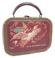 Vtg Miniature Old Mother Goose Suitcase Childrens Kids Toy Antique Nursery Rhyme