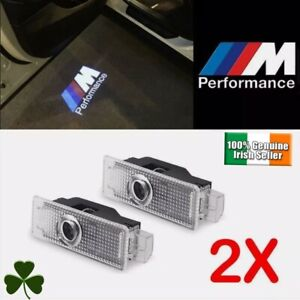 2x BMW M-Performance Door Light Projector Shadow Puddle Courtesy Laser LOGO Lamp