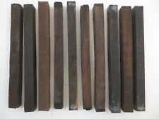 "(10) LOT OF 10,  MACASSAR  EBONY WOOD TURNING BLANKS  1"" x 1"" x  12""  FREE SHIP!"