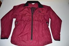 PEARL IZUMI CYCLING MARATHON RED BURGUNDY WIND RAIN JACKET WOMENS SIZE MEDIUM M