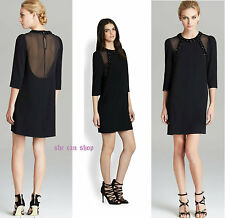 $598 MARC by Marc Jacobs black silk embellished cocktail dress NEW SZ 6