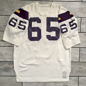 Heavy Use! Sand Knit NFL Game Used Jersey Minnesota Vikings Charlie Johnson VTG