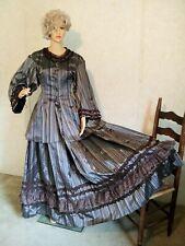 Victorian Edwardian Civil War Steampunk Dress Halloween Costume Ooak Plus Size
