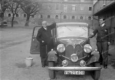 Negativ-Darmstadt-Hessen-Gebäude-BMW-PKW-KFZ-Fahrzeug-1930er Jahre-6