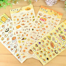 4 Sheets Kawaii Tier Cartoon Papier Aufkleber Scrapbooking Album Tagebuch DE HOT