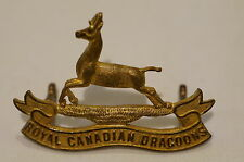 WW2 Royal Canadian Dragoons Officers Armoured Regiment Cap Badge