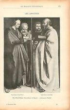 Apôtres Saint Jean,Pierre,Paul & Marc par Dürer à Munich GRAVURE OLD PRINT 1900