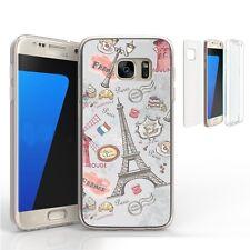 Transparent Case Cover Full Body Protective Samsung Galaxy S7 Edge EIFFEL PARIS