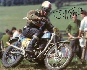 JEFF SMITH SIGNED AUTOGRAPHED 8x10 PHOTO BRITISH MOTOCROSS LEGEND BECKETT BAS
