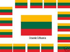 Assortiment lot de 25 autocollants Vinyle stickers drapeau Lituanie-Lithuania