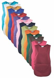 Premier Plain Polycotton Tabard Apron with Pocket In 18 Colours & 6 Sizes