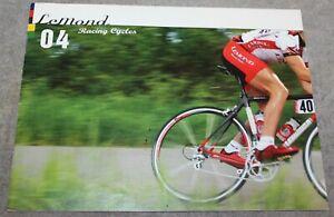 VINTAGE 2004 LeMOND RACING CYCLES BROCHURE CATALOG