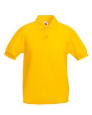 Kids Plain Cotton Polo T Shirt Boys Girls Child Children 13 Colours Uniform UK 3-4 Years Sky Blue
