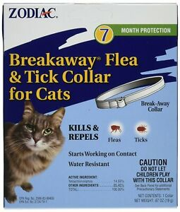 Zodiac Breakaway Flea & Tick Cat Collar | Kills & Repels Bugs | Water Resistant