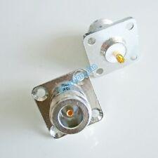 1Pcs N female jack flange 4 holes mount solder cup RF Connector 25mmx25mm