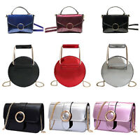 Women Crossbody Bag Casual Patent Leather Shoulder Handbag Messenger Purse Tote