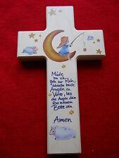 Kinderkreuz Holzkreuz Taufkreuz Wandkreuz Geschenk Motiv Mond