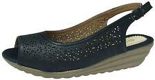 BOULEVARD Platform Wedge Peep Toe Slingback Sandals Black UK 5,EU 38,USA 7,AUS-6