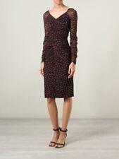 New Dolce & Gabbana Ruched Polka Dot Silk Dress - RRP $2925